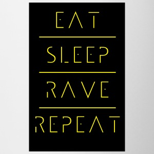 eat sleep rave repeat Flaschen & Tassen - Tasse