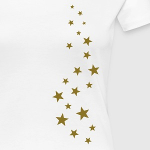 Gold stars, Christmas, fairy dust, magic, fantasy T-Shirts - Women's Premium T-Shirt
