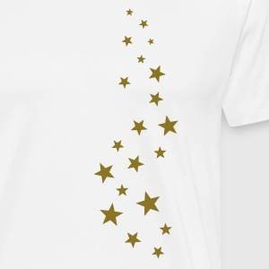 Gold stars, Christmas, fairy dust, magic, fantasy T-Shirts - Men's Premium T-Shirt