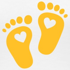 Baby feet, heart, birth, gift, mom, pregnancy T-Shirts