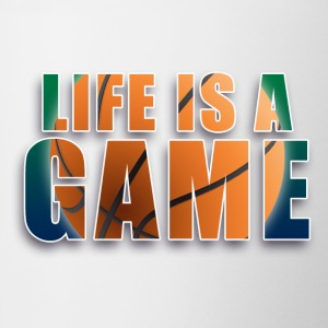 LIFE is a game basketball Flaschen & Tassen - Tasse zweifarbig