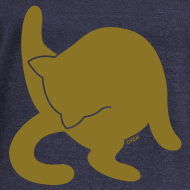 Design ~ Bathing Kitty - Gold