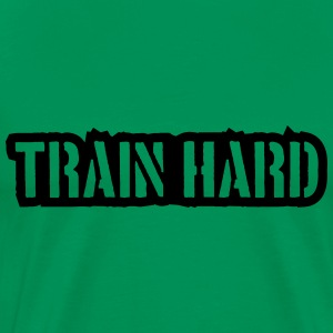 Train Hard Stamp Logo Camisetas - Camiseta premium hombre