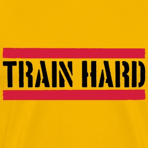 Train Hard Stamp Logo T-shirts - Mannen Premium T-shirt