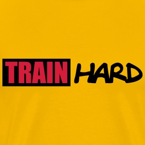 Train Hard Logo T-Shirts - Männer Premium T-Shirt
