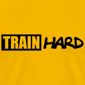 Train Hard Logo T-shirts - Mannen Premium T-shirt