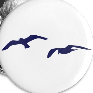 mouette port mer Badges - Badge grand 56 mm
