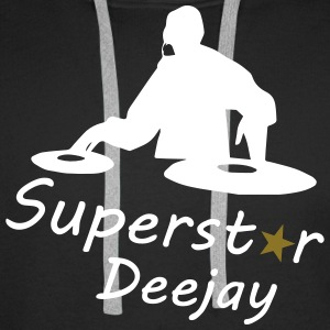 Superstar Dj Sweat-shirts - Sweat-shirt à capuche Premium pour hommes