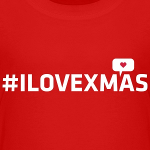 i love christmas xmas heart hashtag internet geek Shirts - Kids' Premium T-Shirt