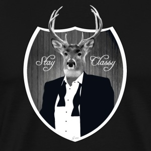 Deer in tuxedo T-Shirts - Men's Premium T-Shirt