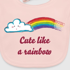 Cute like a rainbow - Baby Organic Bib