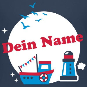 Namenskreis - kids - maritim - Schiff - Boot - 3C T-Shirts - Teenager Premium T-Shirt
