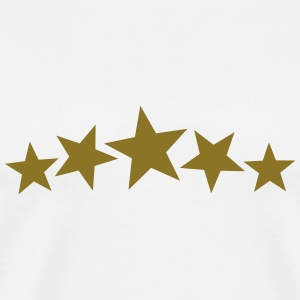 5 Gold Stars, Freestyle, Birthday, Christmas, Gift T-shirts - Mannen Premium T-shirt