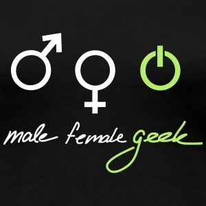 Geek Gender T-shirts - Premium-T-shirt dam
