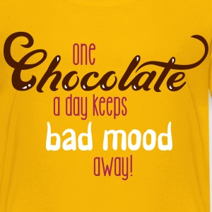One chocolate a day keeps bad mood away - 3C T-Shirts - Kinder Premium T-Shirt