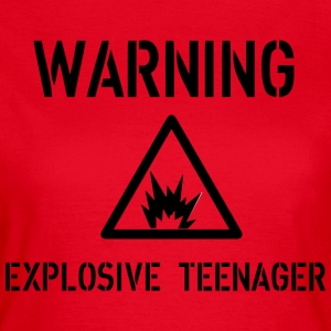 Warning T-shirts - Vrouwen T-shirt