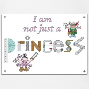 I am not just a princess Shirts - Organic Short-sleeved Baby Bodysuit