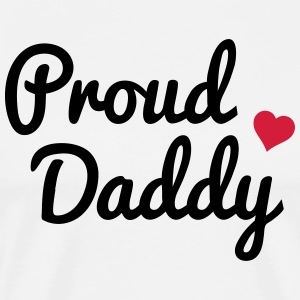 Proud Daddy stolt pappa T-shirts - Premium-T-shirt herr