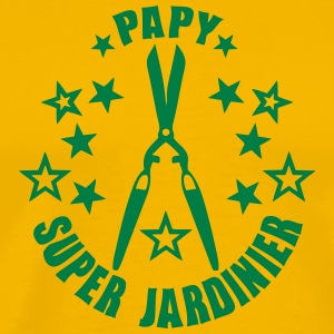 papy super jardinier cisaille logo Tee shirts - T-shirt Premium Homme