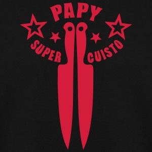 papy super cuisto couteau cuisine logo Sweat-shirts - Sweat-shirt Homme