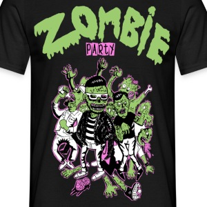 Zombie party - Männer T-Shirt