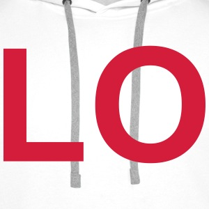 LO (LOVE) Couples T-Shirt Hoodies & Sweatshirts - Men's Premium Hoodie