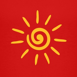 Sun, spiral, summer, spring, holiday, energy Shirts - Teenage Premium T-Shirt