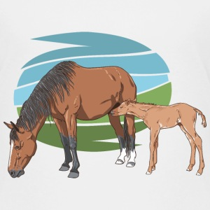 Mare and Foal Shirts - Kids' Premium T-Shirt