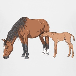 Mare and Foal T-Shirts - Kinder Premium T-Shirt