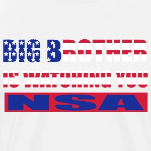 Big Brother is watching you - NSA T-Shirts - Männer Premium T-Shirt