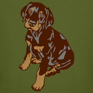 Dobermann Pinscher Brown Sitting Puppy T-shirts - Organic mænd