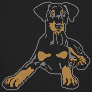 Dobermann Pinscher Black Puppy T-shirts - Ekologisk T-shirt herr