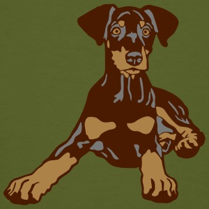 Dobermann Pinscher Brown Puppy T-shirts - Mannen Bio-T-shirt
