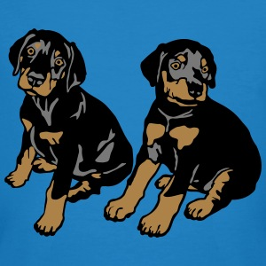 Dobermann Pinscher Black Sitting Puppies  T-shirts - Ekologisk T-shirt herr