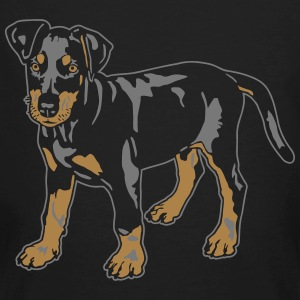 Dobermann Pinscher Black Puppy T-shirts - Organic mænd