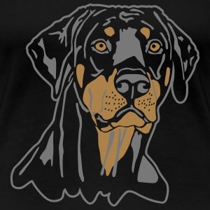 Dobermann Pinscher Black Head T-shirts - Dame premium T-shirt