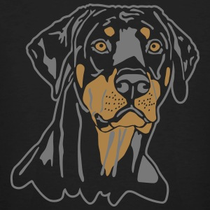 Dobermann Pinscher Black Head T-shirts - Ekologisk T-shirt herr