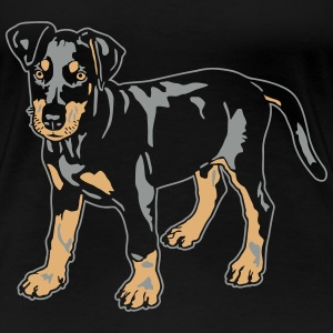 Dobermann Pinscher Black Puppy T-shirts - Vrouwen Premium T-shirt