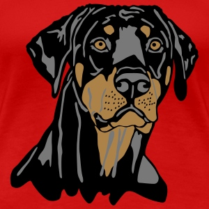 Dobermann Pinscher Black Head T-shirts - Premium-T-shirt dam