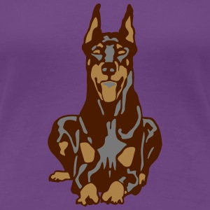 Dobermann Pinscher Brown Down Standing Ears T-skjorter - Premium T-skjorte for kvinner