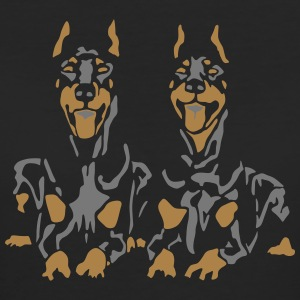 Dobermann Pinscher Black Down Standing Ears Tee shirts - T-shirt Bio Femme