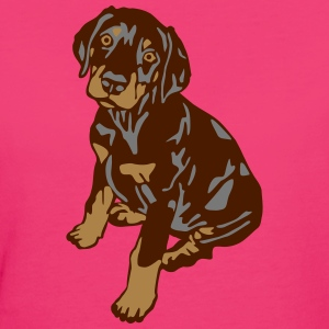 Dobermann Pinscher Brown Sitting Puppy Camisetas - Camiseta ecológica mujer