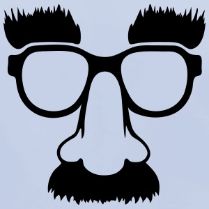 Groucho mask - nerd glasses Accessories - Baby økologisk hagesmæk