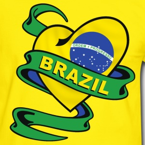 Brazil heart design T-Shirts - Men's Ringer Shirt