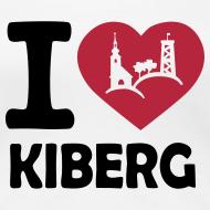 Motiv ~ I love Kiberg Frauen Shirt weiß