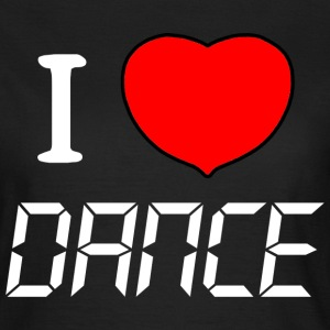 T SHIRT I LOVE DANCE by Florian VIRIOT - T-shirt Femme