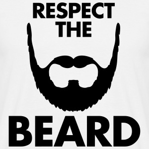 Respect The Beard T-Shirts - Men's T-Shirt