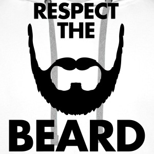 Respect The Beard Bluzy - Bluza męska Premium z kapturem