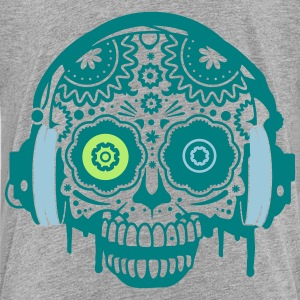 A Sugar Skull with headphones  Shirts - Kids' Premium T-Shirt