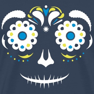 Sugar Skull Face T-Shirts - Men's Premium T-Shirt